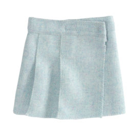jupe maileg en laine medium wool tweed skirt blue