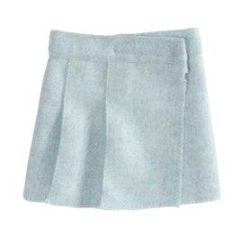 jupe maileg en laine medium wool tweed skirt blue