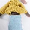 jupe maileg medium wool tweed skirt blue
