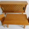 mobilier poupees 1960 buffet table 2 chaises Vintage