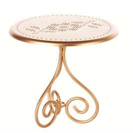 maileg table de café ronde gold
