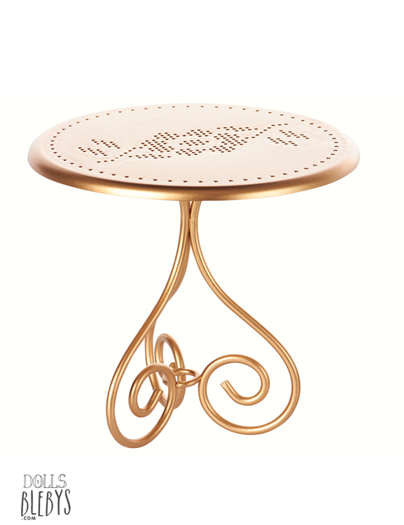 maileg table de caf ou de jardin ronde en m tal coloris gold or. Black Bedroom Furniture Sets. Home Design Ideas