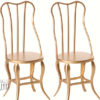 chaises maileg gold micro vintage