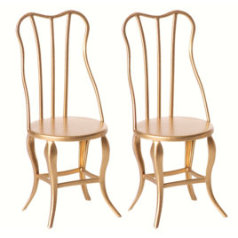 chaises maileg vintage gold micro lot de 2