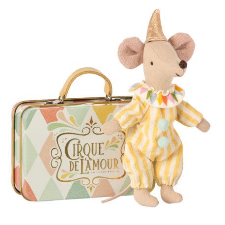 clown maileg souris avec valise