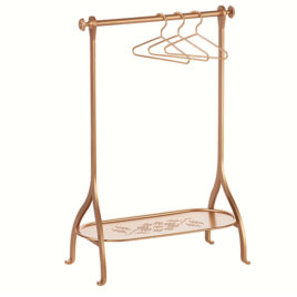 portant maileg rack penderie gold or avec cintres