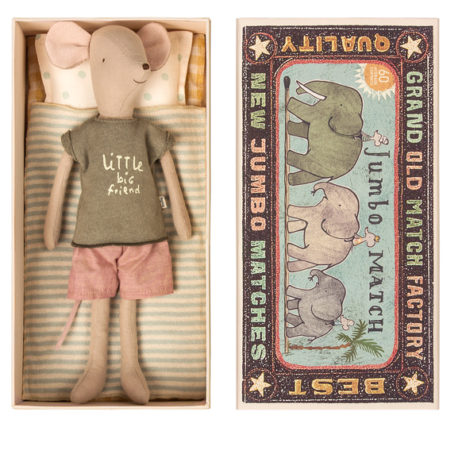 souris medium maileg en boite mouse in box medium boy