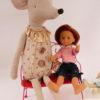 Maxi souris maileg circus fille dans ses habits de fete