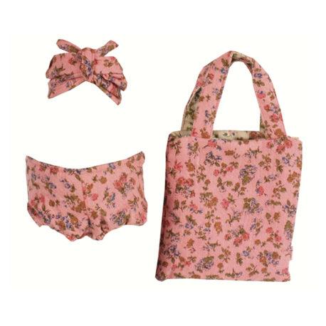 bikini mega maileg rose avec sac pour bunny et rabbit mega