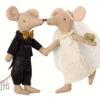 coffret souris maileg mariés wedding mice couple in box