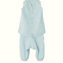 mega t-shirt maileg avec pantalon bleu vert