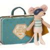 super héros souris maileg avec valise