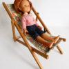 chaise longue vintage poupées