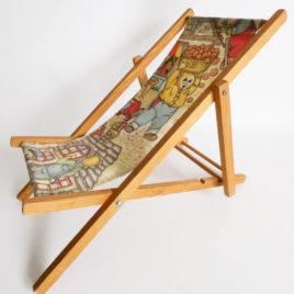chaise longue vintage poupées dessin ours
