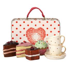 valise maileg cakes et tasses à thé