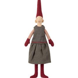 lutin pixy maileg fille collants rouges 32 cm