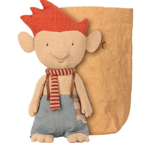 maileg troll echarpe rouge