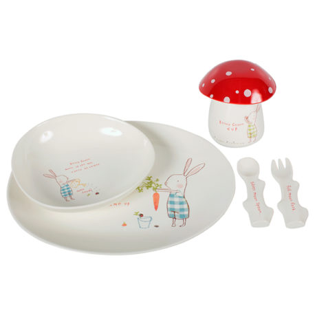 set repas maileg bunny green melamine 6 parts