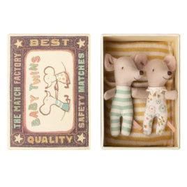 souris maileg bebes fille et garcon avec boite