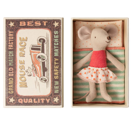 souris maileg little sister mouse in box