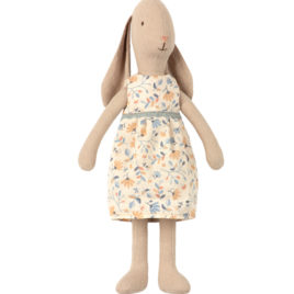 Bunny Maileg taille 2 – robe fleurie – LAPIN 27 cm