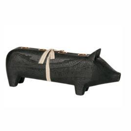 COCHON Maileg Bougeoir Noir – Large – 39 cm