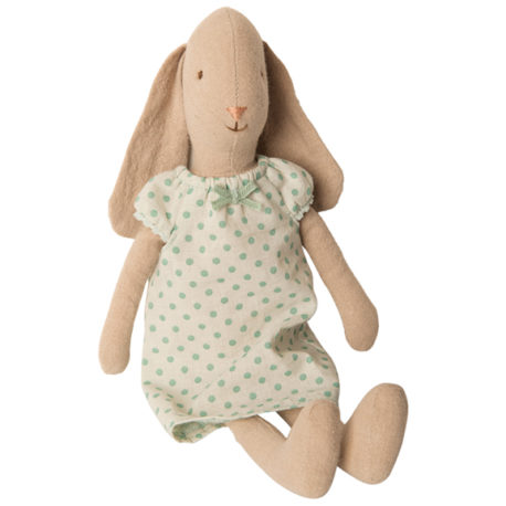 16-9203-00 lapin maileg bunny taille 2 chemise de nuit menthe