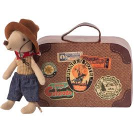 16-9723-01 souris maileg cowboy avec valise