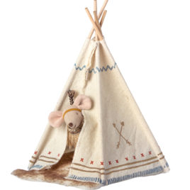16-9724-01 souris maileg indienne avec sa tente