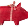 cochon maileg bougeoir rouge small