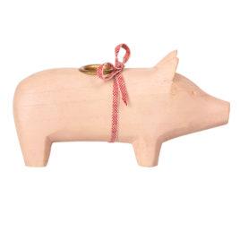 cochon maileg rose medium bougeoir