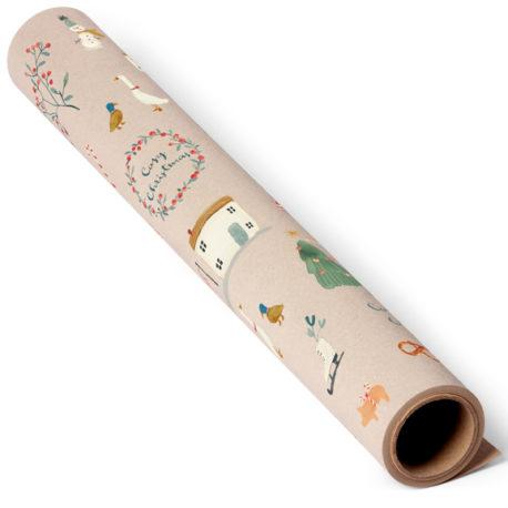 maileg rouleau papier Cosy Christmas 10 m gifwrap