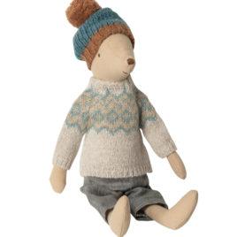 souris maileg hiver garçon winter mouse medium boy