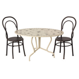 11-9101-01 set maileg table et chaises metal