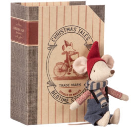 14-9721-01 souris christmas maileg avec livre - big brother