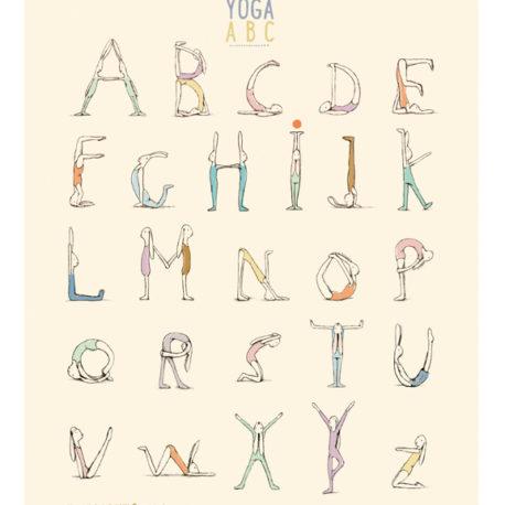 15-0268-00 maileg poster yoga alphabet