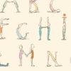 15-0268-00 poster maileg yoga alphabet
