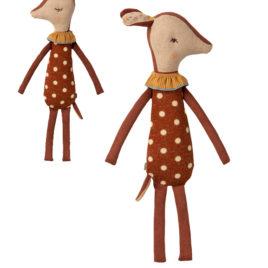 Bambi Maileg endormi / éveillé – Biche rétro 40 cm