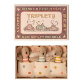 Bébés Triplés Maileg SOURIS et boîte – S. 8 cm