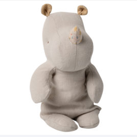 Maileg RHINO Gris clair Small – S. Friends – 22 cm