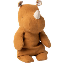 Maileg RHINO Ocre Small – Safari Friends – 22 cm