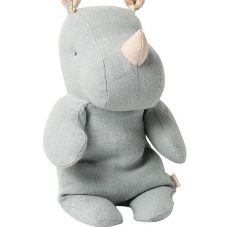 rhino small bleu gris safari friends maileg 16092102