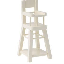 Chaise haute Maileg Blanche en bois pour Micro