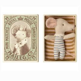 Boîte SOURIS Maileg Bébé garçon – souris 8 cm