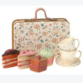 Set Valise Maileg Cakes avec Tasses pour deux