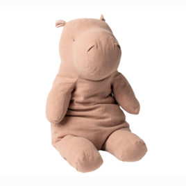 Big HIPPO Maileg Dusty Rose Safari friends 54 cm