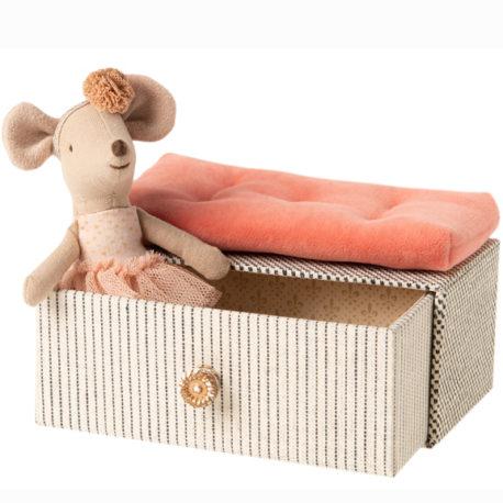 souris danseuse maileg petite soeur avec boite tiroir 16060100