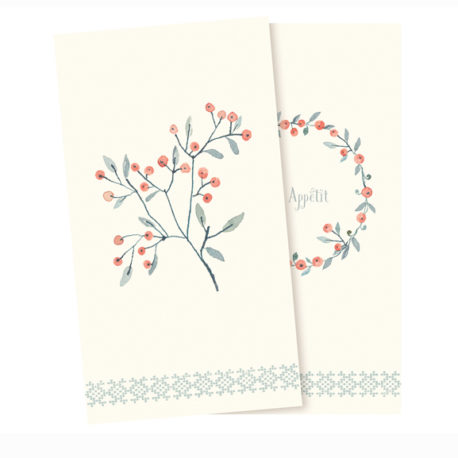 serviettes maileg en papier baies d hiver 14-8101-00