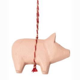 Cochon Maileg en bois Rose  Objet de décoration – 6 cm