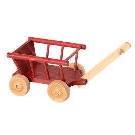 Wagon Maileg Micro Rouge  Hauteur 6,5 cm